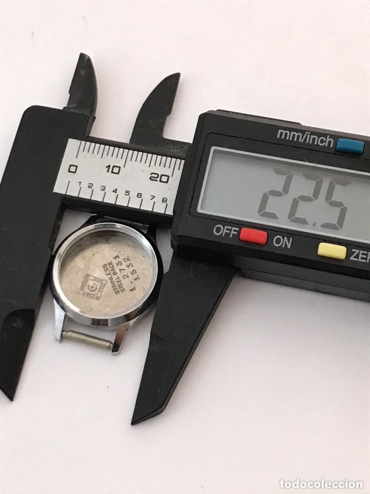 Recambios de relojes: Caja case reloj CYMA 22,5 mm sin usar - Foto 3 - 173659788