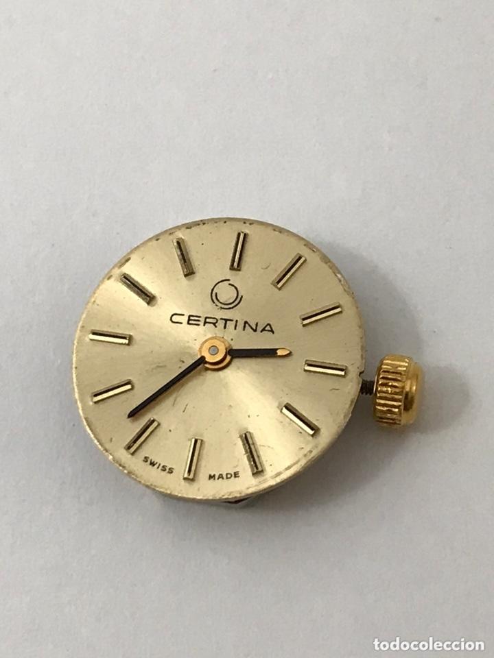 MAQUINARIA RELOJ CERTINA C.E.026 CARGA MANUAL (Relojes - Recambios)