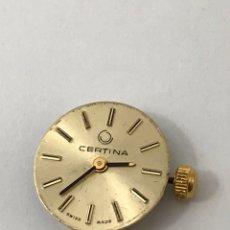 Recambios de relojes: MAQUINARIA RELOJ CERTINA C.E.026 CARGA MANUAL. Lote 173814070