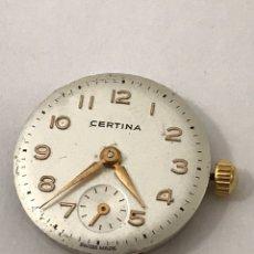 Recambios de relojes: MAQUINARIA RELOJ CERTIINA 19-10 CARGA MANUAL. Lote 173815015