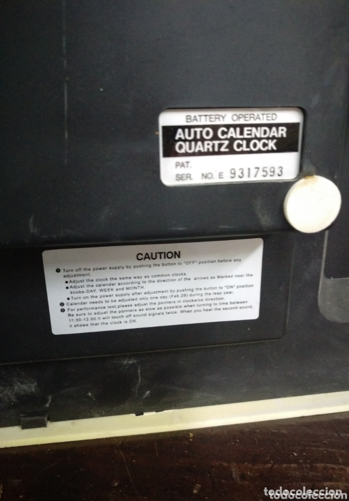 Recambios de relojes: RELOJ DE PARED DE PALETAS GRANDE PARA PIEZAS O RESTAURAR - Foto 11 - 173863332