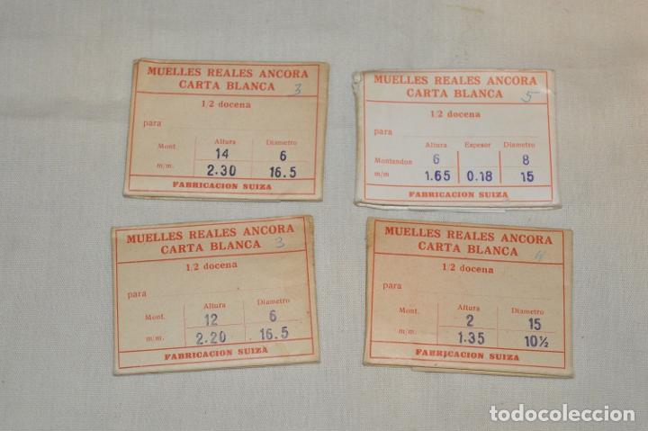LOTE DE MUELLES / RESORTES ANTIGUOS RELOJES - FORNITURAS - SWISS MADE - ¡HAZ UNA OFERTA! - LOTE22 (Relojes - Recambios)