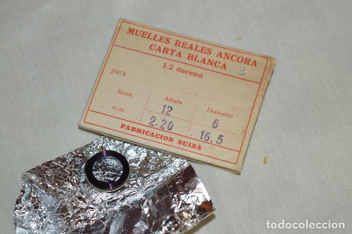 Recambios de relojes: LOTE DE MUELLES / RESORTES ANTIGUOS RELOJES - FORNITURAS - SWISS MADE - ¡HAZ UNA OFERTA! - LOTE22 - Foto 4 - 174041162