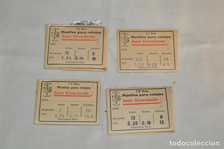 LOTE DE MUELLES / RESORTES ANTIGUOS RELOJES - FORNITURAS - SWISS MADE - ¡HAZ UNA OFERTA! - LOTE24 (Relojes - Recambios)