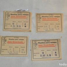 Recambios de relojes: LOTE DE MUELLES / RESORTES ANTIGUOS RELOJES - FORNITURAS - SWISS MADE - ¡HAZ UNA OFERTA! - LOTE24. Lote 174041229