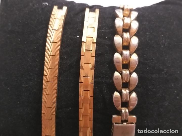 Recambios de relojes: Lote de 3 partes de correas de reloj - Foto 2 - 175608187