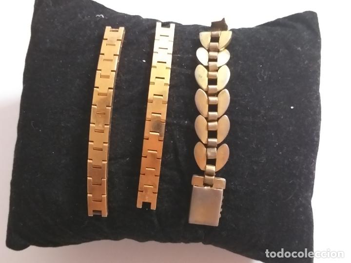 Recambios de relojes: Lote de 3 partes de correas de reloj - Foto 3 - 175608187