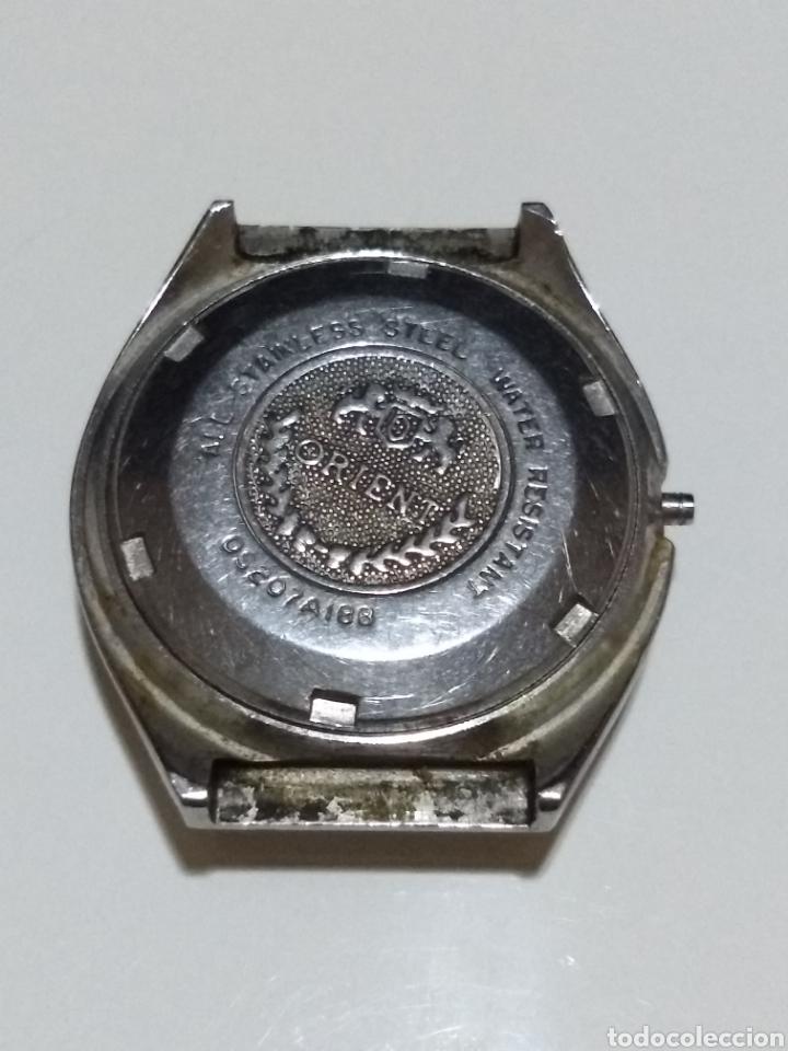 Recambios de relojes: Caja Reloj Orient acero 05207A188 Medida 37mm - Foto 4 - 175716705