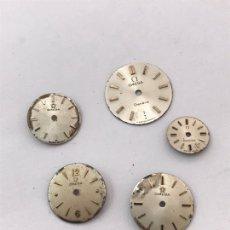 Recambios de relojes: LOTE DE CINCO ESFERAS RELOJ OMEGA. Lote 176181284