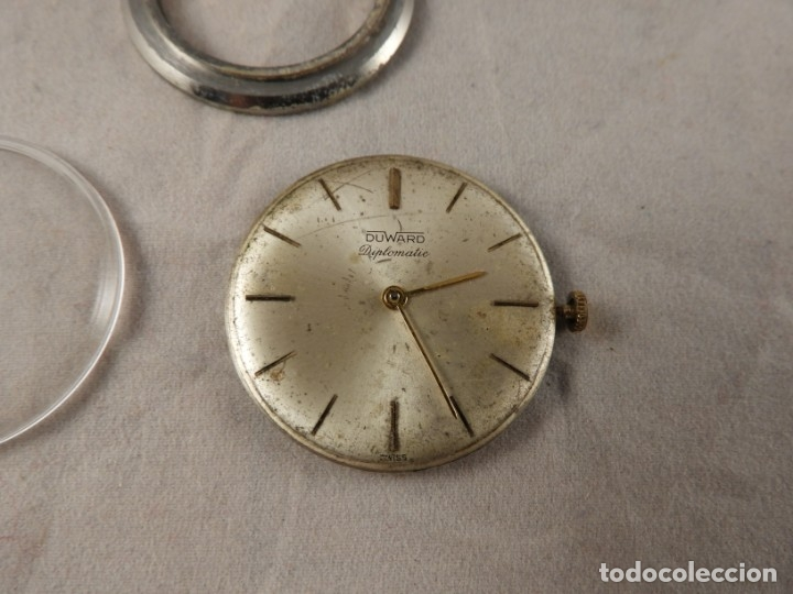 Recambios de relojes: MAQUINARIA RELOJ DUWARD DIPLOMATIC - Foto 2 - 176206423