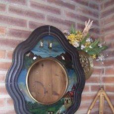 Recambios de relojes: ¡¡GRAN OFERTA!ANTIGUA CAJA OJO DE BUEY-FRONTAL PINTADO AL OLEO NACAR- AÑO 1880- LOTE 214- ¡¡UNICO!!!. Lote 176218625
