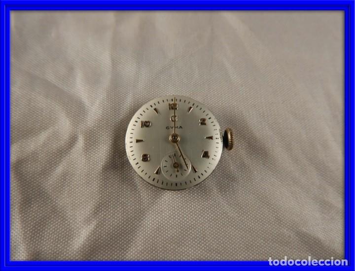 MAQUINARIA RELOJ CYMA FUNCIONANDO (Relojes - Recambios)