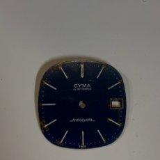 Recambios de relojes: ESFERA CYMA. Lote 177182305