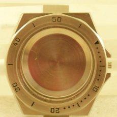 Recambios de relojes: PRECIOSA CAJA ACERO CON BISEL GIRATORIO 39.4MM. Lote 177912730