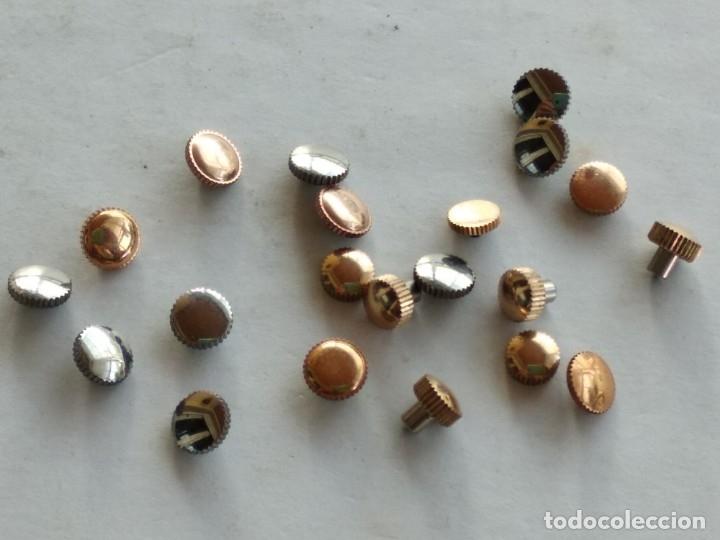 Recambios de relojes: Lote 21 coronas, crown, reloj pulsera - Foto 2 - 178593055