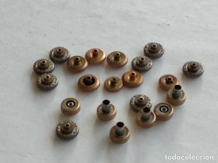 Recambios de relojes: Lote 21 coronas, crown, reloj pulsera - Foto 3 - 178593055
