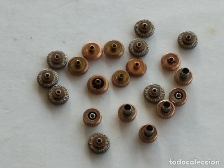 Recambios de relojes: Lote 21 coronas, crown, reloj pulsera - Foto 4 - 178593055