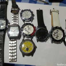 Recambios de relojes: LOTE 8 RELOJES PARA REPARAR O PIEZAS. Lote 180026496
