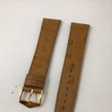 Recambios de relojes: CORREA DE PIEL 18 MM SIN USAR. Lote 180028908
