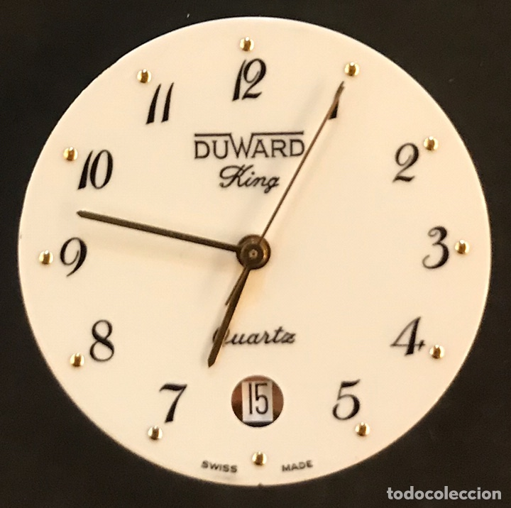 MAQUINARIA DUWARD KING QUARTZ, EN PERFECTO ESTADO, CON CRISTAL Y ACCESORIOS (Relojes - Recambios)