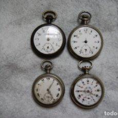 Recambios de relojes: LOTE DE RELOJES ANTIGUOS MECANICOS BOLSILLO VEA FOTOS. Lote 181326876