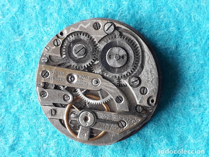 Recambios de relojes: Maquinaria antigua para reloj de bosillo marca Cervine + esfera de porcelana. - Foto 2 - 181399608
