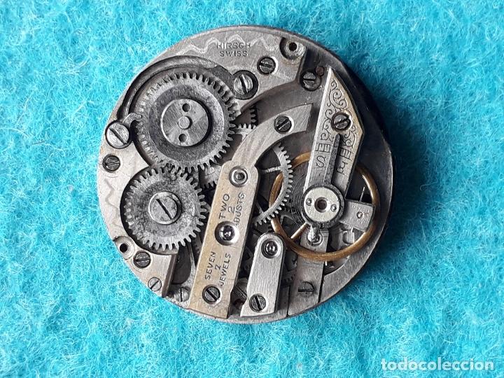 Recambios de relojes: Maquinaria antigua para reloj de bosillo marca Cervine + esfera de porcelana. - Foto 3 - 181399608