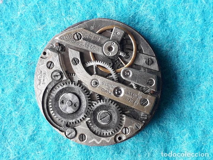 Recambios de relojes: Maquinaria antigua para reloj de bosillo marca Cervine + esfera de porcelana. - Foto 5 - 181399608