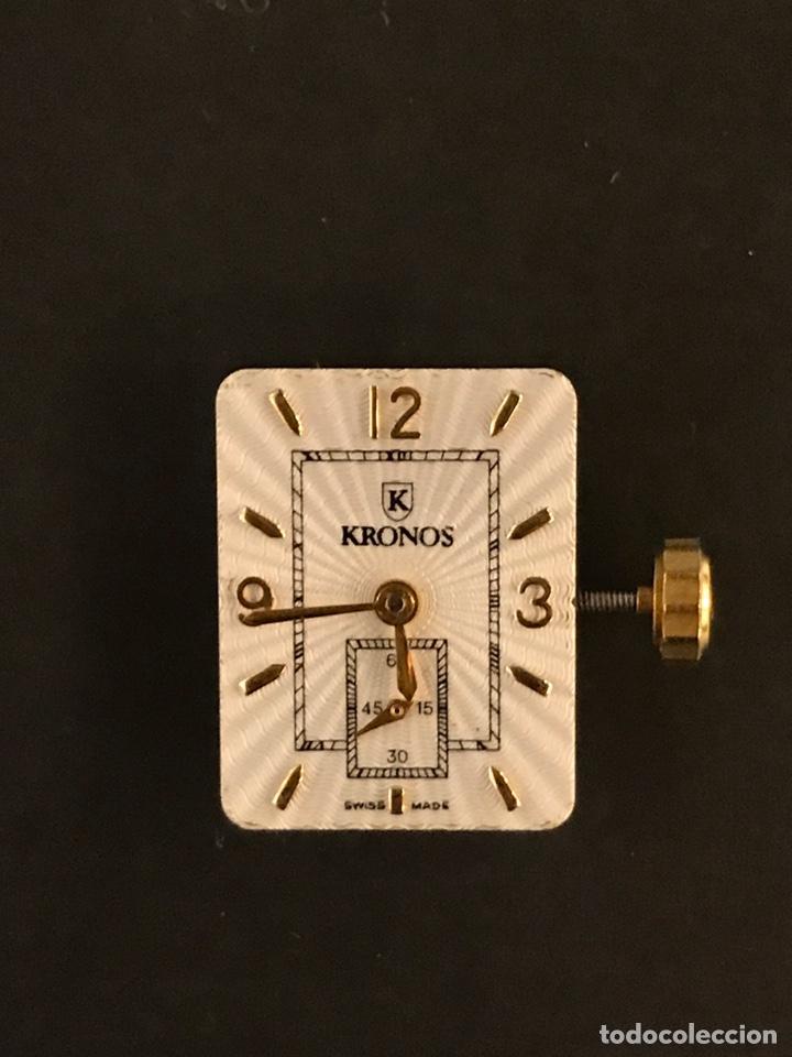 MAQUINARIA RELOJ KRONOS 11 JEWELS, FUNCIONA A LA PERFECCIÓN (Relojes - Recambios)
