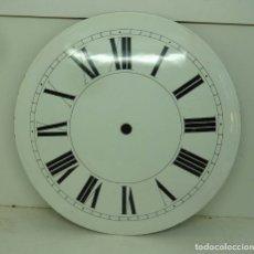 Recambios de relojes: ESFERA DE CHAPA ESMALTADA DE RELOJ MORET DIAMETRO 23,01. Lote 181404277