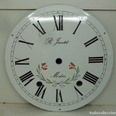 Recambios de relojes: ESFERA DE CHAPA ESMALTADA DE RELOJ MORET DIAMETRO 23,01. Lote 181404445