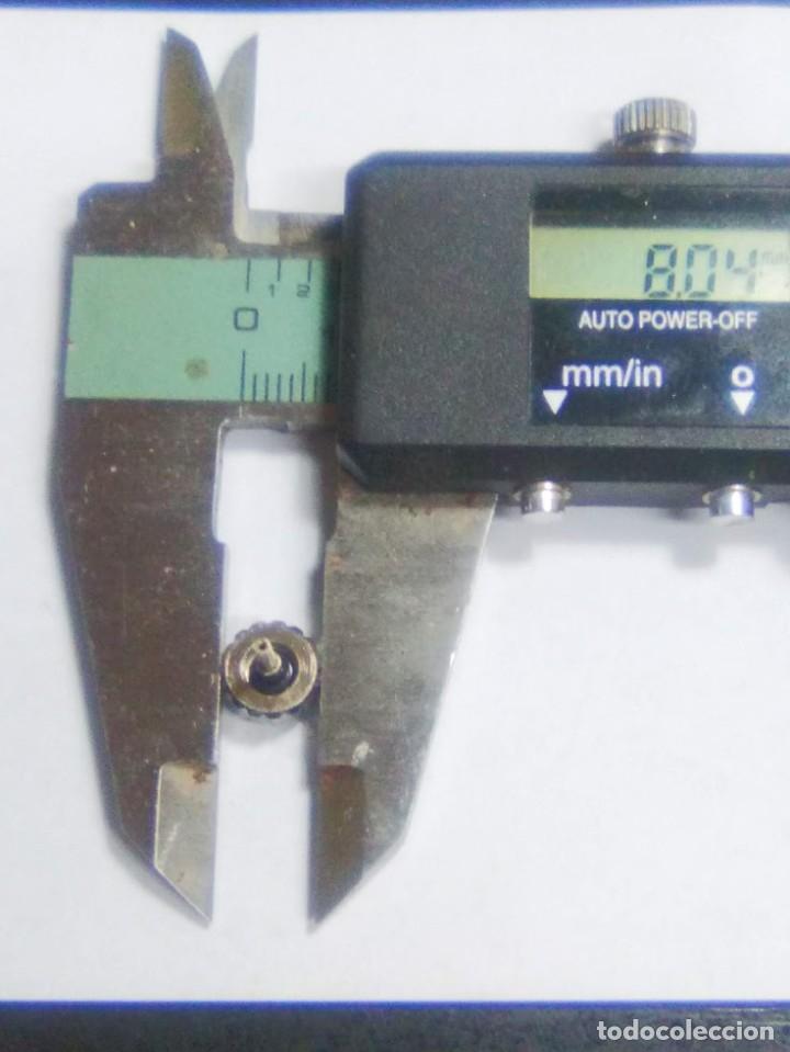 Recambios de relojes: Corona para **BREITLING ** de rosca - tubo 2.20 - resto medidas entre las 3 Fotos (cd-5583) - Foto 2 - 181720605