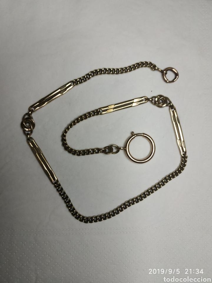 Recambios de relojes: Antigua lontina de reloj de bolsillo de bronce - Foto 2 - 182773461