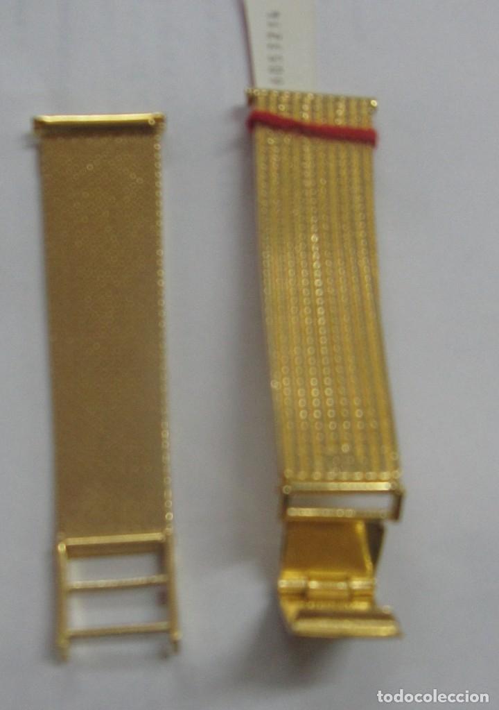Recambios de relojes: PULSERA RELOJ Z.R.C PLAQUE ORO - Foto 2 - 182858958