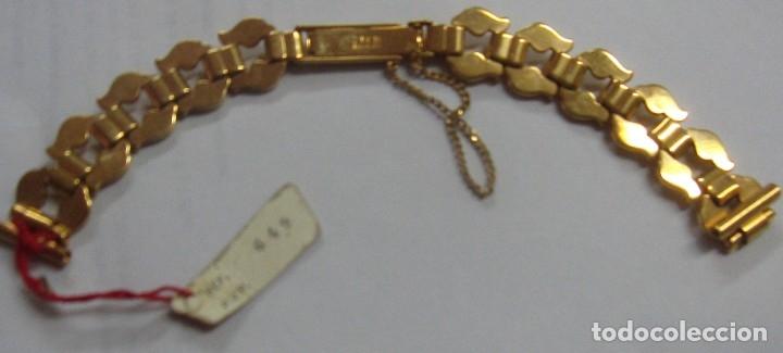 Recambios de relojes: PULSERA RELOJ Z.R.C PLAQUE ORO - Foto 2 - 182859098