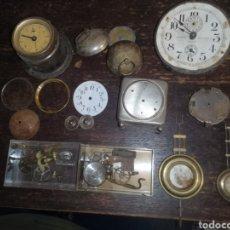 Recambios de relojes: LOTE PIEZAS DE RELOJES ANTIGUOS. Lote 183095431
