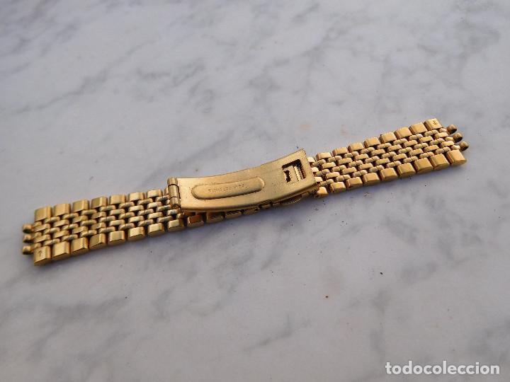 Recambios de relojes: Armis de acero chapado en oro para reloj Oris - Foto 3 - 183738536