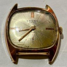 Recambios de relojes: RELOJ DE HOMBRE CAUNY APOLLON 17 RUBIS . Lote 184363081
