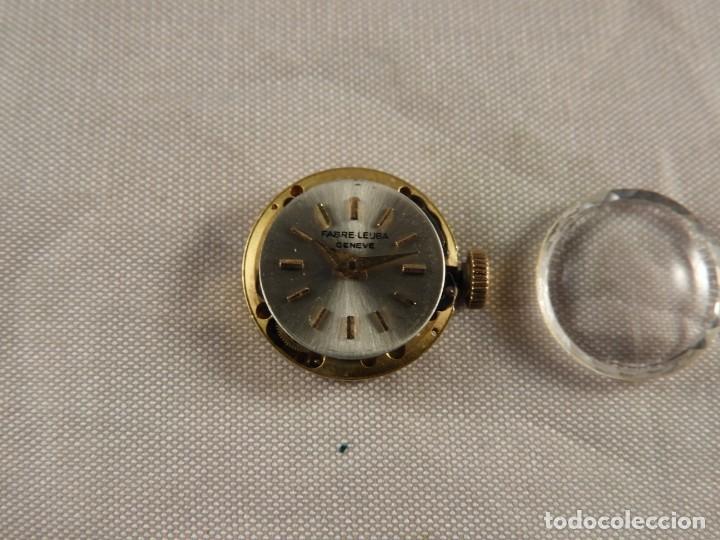 Recambios de relojes: MAQUINARIA RELOJ FABRE LEUBA GENEVE FUNCIONANDO - Foto 2 - 189179806
