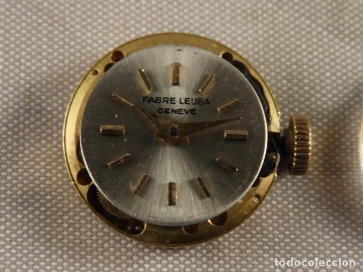 Recambios de relojes: MAQUINARIA RELOJ FABRE LEUBA GENEVE FUNCIONANDO - Foto 3 - 189179806