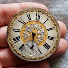 Pièces de rechange de montres et horloges: MOVIMIENTO DE ANTIGUO RELOJ DE BOLSILLO MARCA H. THIEBAUD. Lote 189268988