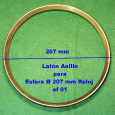 Recambios de relojes: ANILLO DE LATÓN, Ø 207 MM, PARA ESFERA, REF 01. Lote 189897516