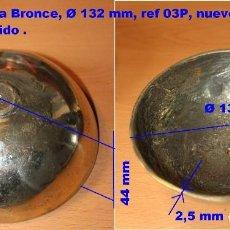 Recambios de relojes: CAMPANA DE BRONCE Ø 132 MM PULIDO PARA RELOJ MOREZ, 3P. Lote 189917650