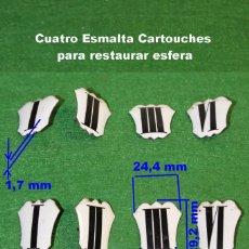 Recambios de relojes: RESTO DE CARTUCHOS ESMALTADOS ANTIGUOS. Lote 190170407