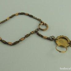 Recambios de relojes: MAGNIFICA CADENA DE RELOJ CON PORTAFOTOS DE METAL . Lote 191197572