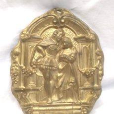Recambios de relojes: RELOJ PARED S XIX EMBELLECEDOR ACABADO FINAL PENDULO, BRONCE REPUJADO. MED. 10 X 13 CM. Lote 191263543