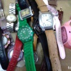 Recambios de relojes: LOTE DE UNOS 15 RELOJES PARA REPARAR O DESGUACE. Lote 191346387