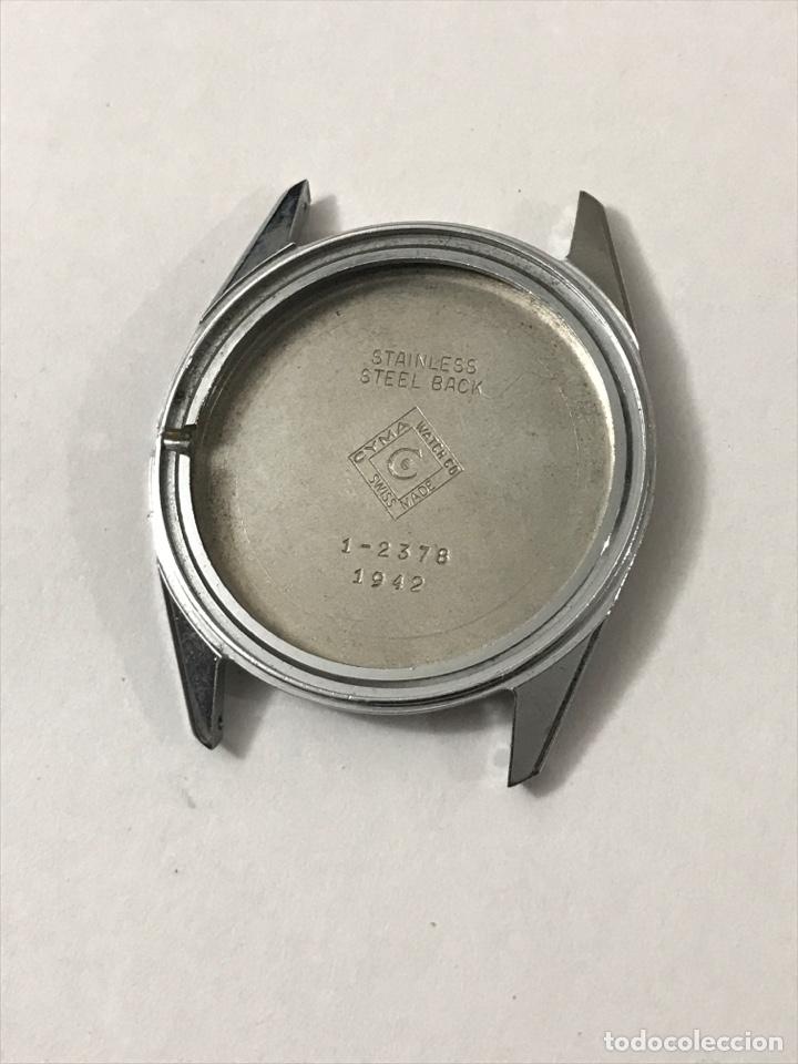 CAJA RELOJ CYMA 1-2378/1942 SIN USAR 33,5 MM •*• (Relojes - Recambios)