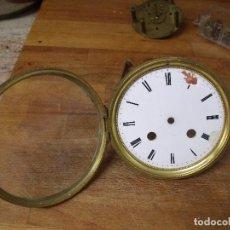 Recambios de relojes: PUERTA DELANTERA DOBLE CON CRISTAL PARA MAQUINARIA PARIS DE SOBREMESA - LOTE 205. Lote 192142960
