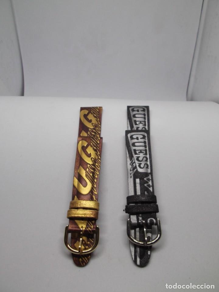 Recambios de relojes: 2 Correas de Guess en dorado y plateado,vintage - Foto 4 - 192368085